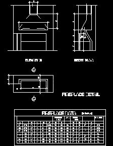 Fire Places Sample Drawings