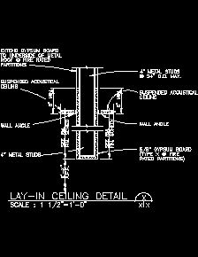 Interior Ceiling Finishes Sample Drawings