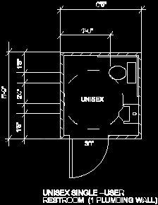 Ada requirement sample drawings for Bathroom autocad blocks