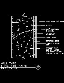 Wall Type (1 Hr. Fire Rated ) ...
