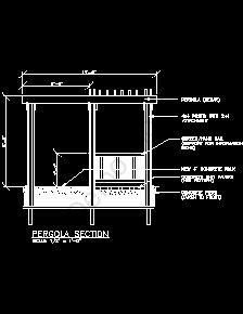 Concrete Bench Detail